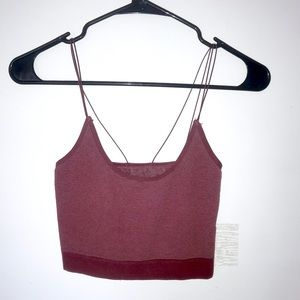 Out From Under maroon cropped tank